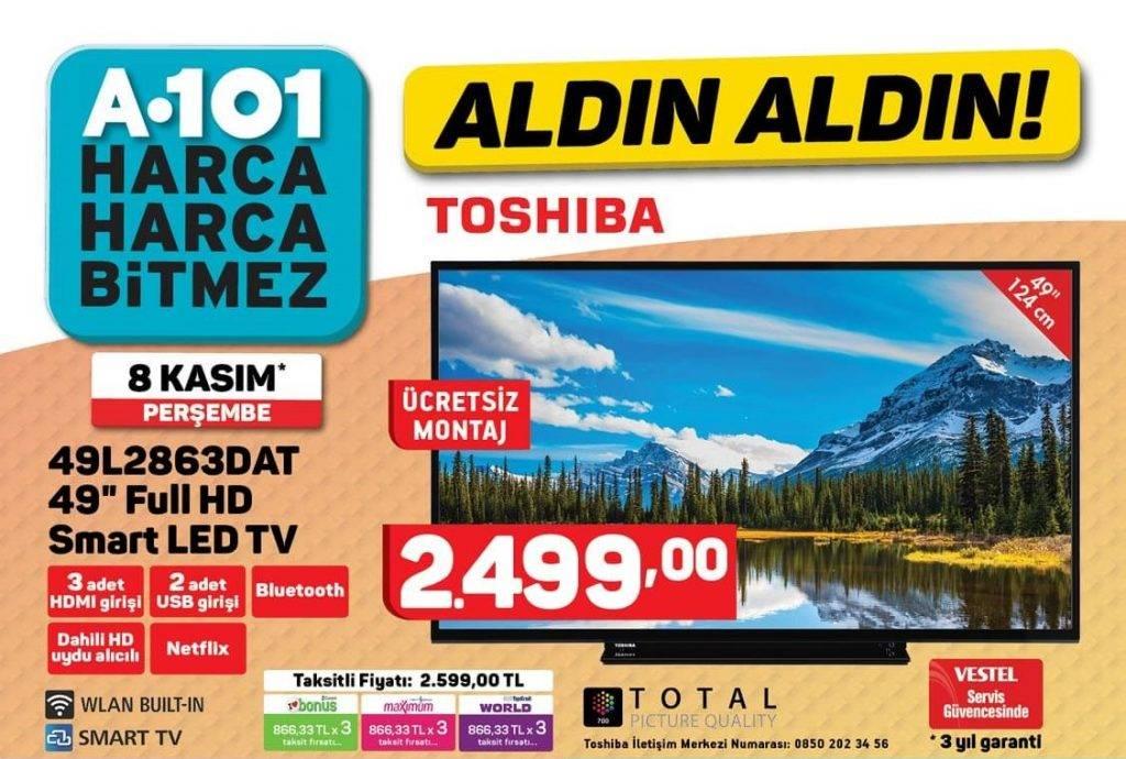 A101'e gelen Toshiba 43L2863DAT 49