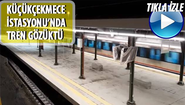 Küçükçekmece'den Yıllar Sonra İlk Kez Tren Geçti